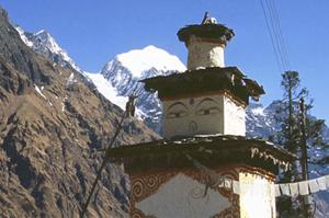 Nepal Temple Poon Hill trek Nepal