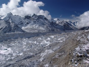 Khumbu glacier Everest Base camp trek