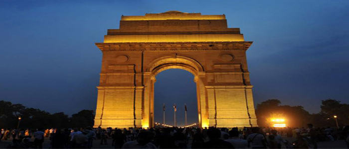 Golden India Gate golden triangle india 8 days