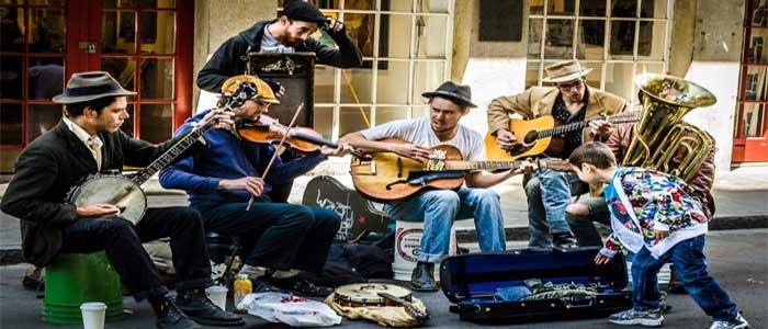 Havana jazz band street scene