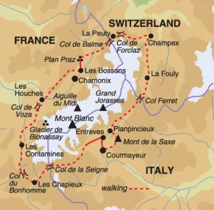 Mont Blanc Circuit map