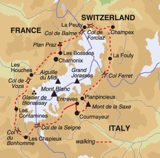 Discovery Travel Mont Blanc Circuit Walking Through Italy France - Is france in italy
