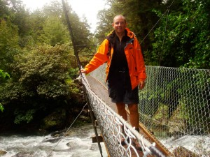 Suspension bridge-walking, Suspension bridge while walking trail NZ