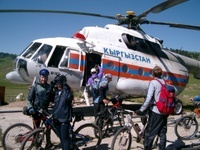 Kazakhstan and Kyrgyzstan MTB helicopter