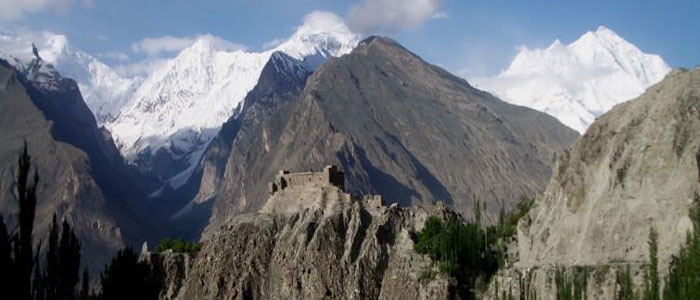 Cycle Pakistan Kyrgzstan China mountain fort banner image