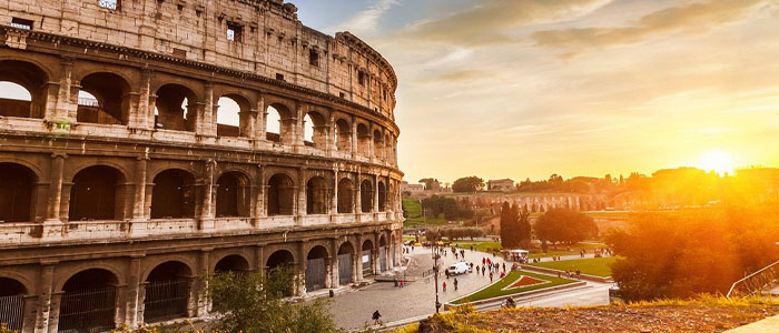 Earlybird airfares Colloseum Rome