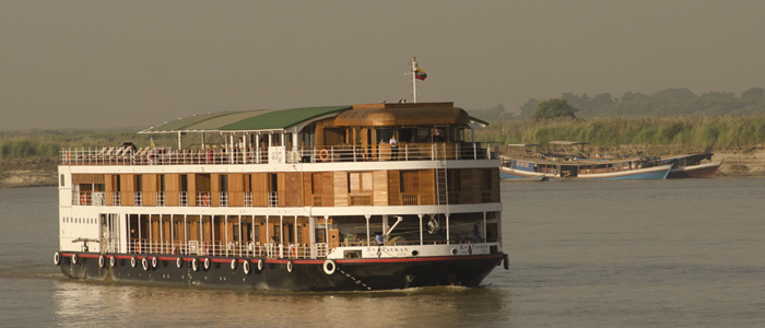 Cruising Bagan to Mandalay Burma