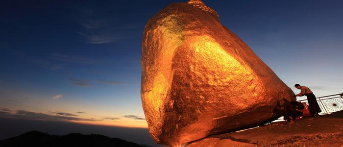 Golden rock Burma