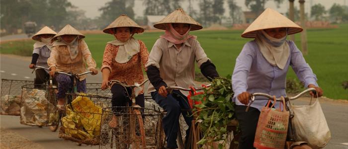 Ladies on Bicycles Vietnam