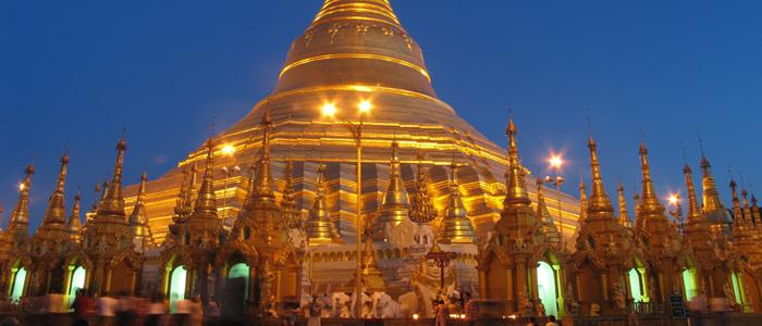 Schwedagon pagoda Yangon Burma