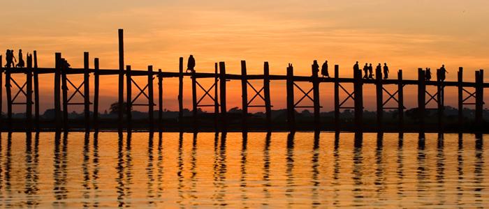 Wooden bridge Mandalay Burma