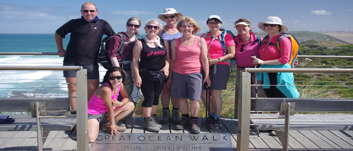 Great Ocean Walk at the finish line group photo