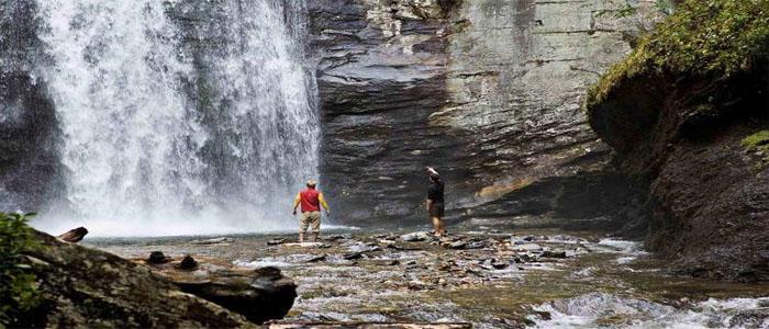 Carolinas and Smokey Mountains Looking glass falls