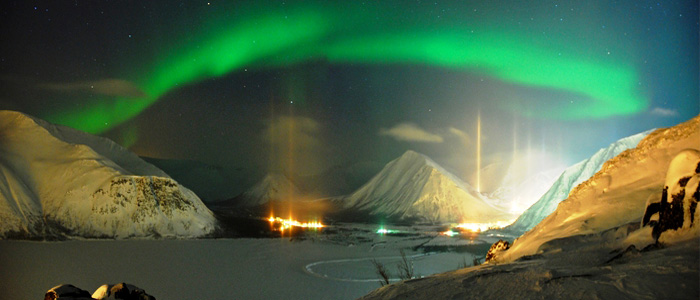 Northern Lights Volcanoes and Glacier Blue Lagoon Icelandaurora