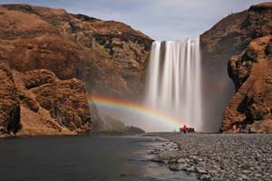 Iceland Northern Lights Explorer skogafoss waterfall