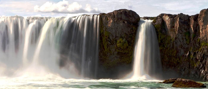 Land of Northern Lights Iceland waterfalls