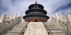 CHINA_-_Beijing_-_Temple_of_Heaven_with_blue_sky_-_232