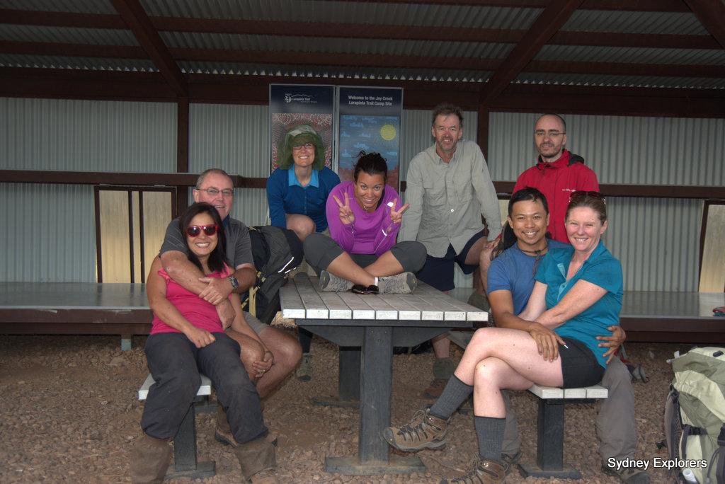 Simpsons Gap campground Larapinta Trail Sydney Explorers