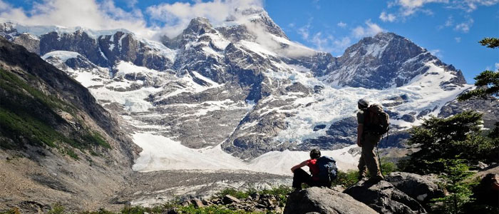 Torres del Paine enjoying the views 2