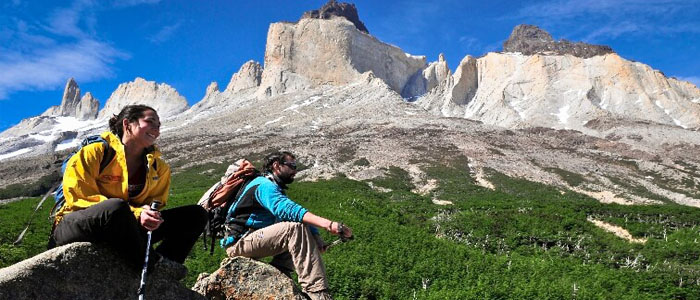 Torres del Paine enjoying the views