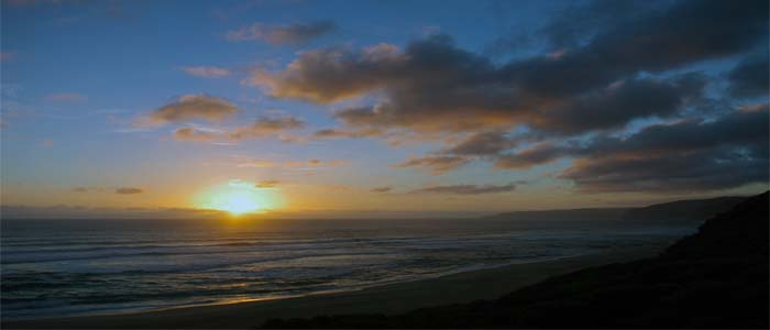 Sunset over Johanna Beach Great Ocean Wal