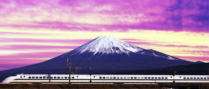 Japan at a glance mt-fuji-and-bullet-train-japan-jpg