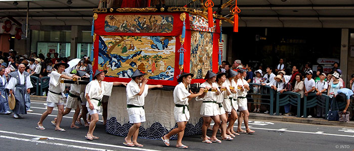 Across the roof of Japan gion-festival