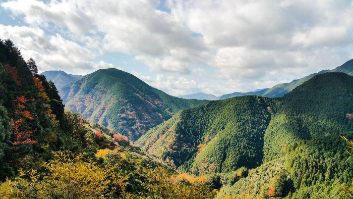 Kumano Kodo Mountain view banner