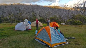 Camping at round mountain Hut