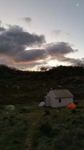 Camping at Derchkos Hut