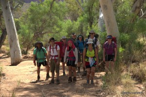 Group photo at Redbank Gorge start of our walk