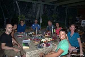 Buffet dinner at Standley Chasm Thank you Ray!