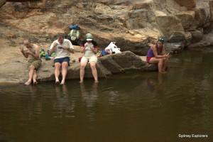 Lunch by the waterhole