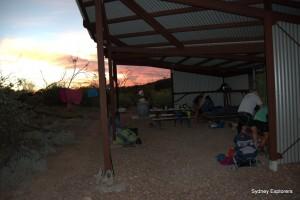 Sunset Finke river camp